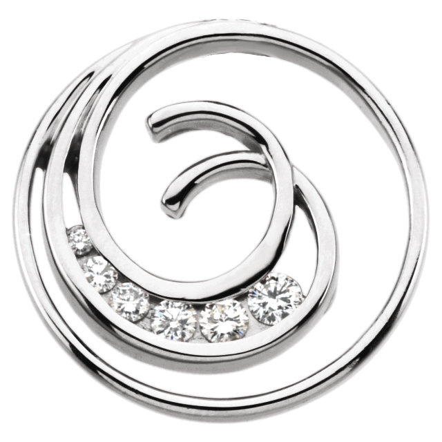 Genuine Journey Diamond Spiral Pendant