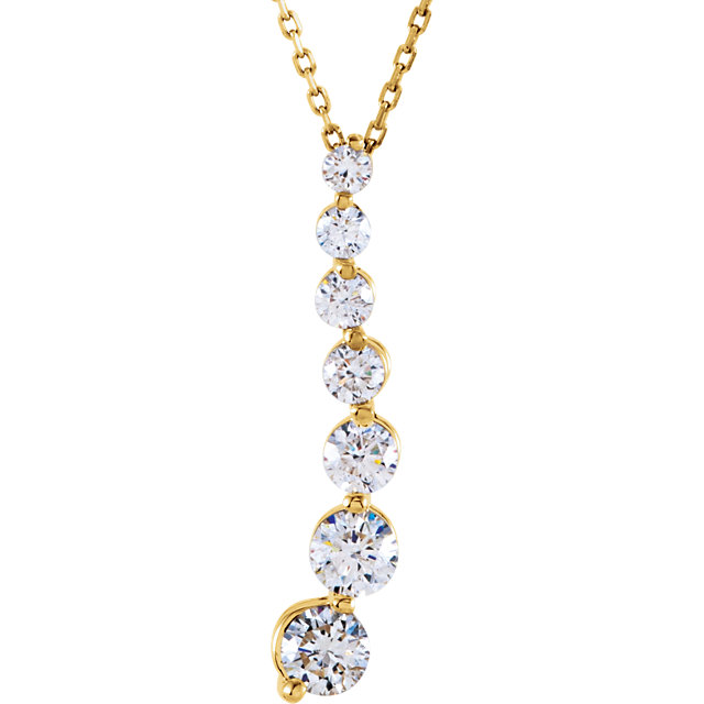 14 Karat Yellow Gold 1 Carat Diamond Journey 18