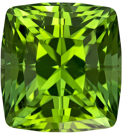 Killer High Color Tourmaline Intense Mint Green Color, Cushion Cut in 10.5 x 9.8 mm 6.49 carats