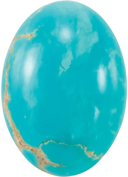 Kingman Turquoise Oval Shapes in Calibrated Sizes