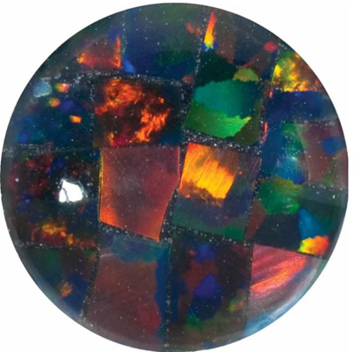 Lab Created Gilson Black Opal Round Cut in Grade GEM