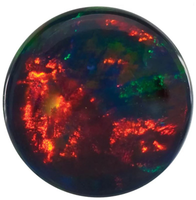Lab Created Black Opal Round Cut in Grade GEM