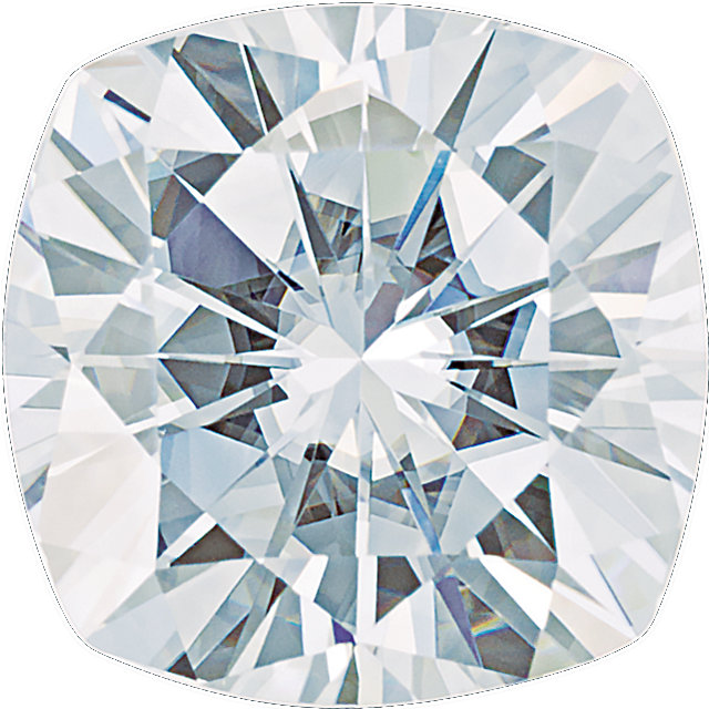 Lab Created Charles & Colvard Forever One Colorless Moissanite Gemstonein Antique Cushion Shape Grade AAA, 6.00 mm
