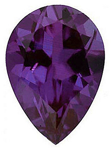 Lab Created Chatham Created Alexandrite Stone, Pear Shape, Grade GEM, 7.00 x 5.00 mm in Size, 0.8 Carats
