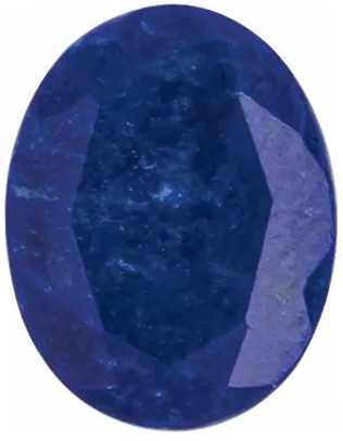 Faceted Lapis Oval Cut in Grade AAA