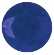 Faceted Lapis Round Cut in Grade AAA