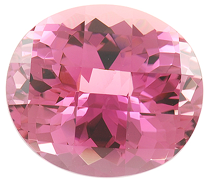 Large Faceted Beautiful Pink Tourmaline Gemstone, Beautiful Medium Tone Pink, Clean Gem in 20.22 carats