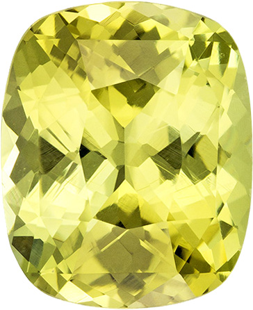 Lemony Lime Chrysoberyl Loose Stone Cushion Cut, Super Bright and Clean Gem in 9.8 x 8 mm, 3.31 Carats - SOLD
