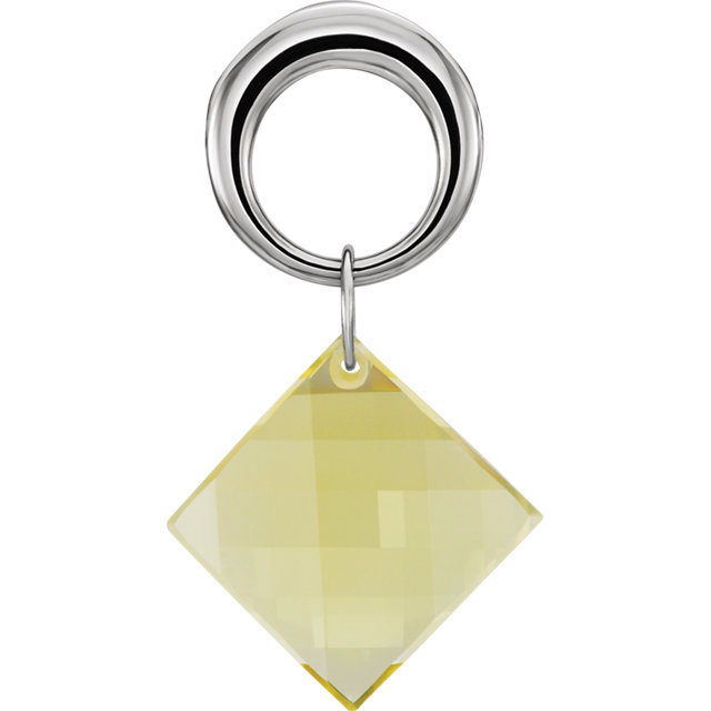 Lime Quartz Pendant