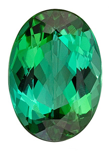 Lively and Bright Blue Green Tourmaline Natural Gemstone from Brazil, Oval Cut, 4.8 carats
