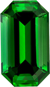 Lively and Bright, Unheated Attractive, Rich Grass Green Chrome Tourmaline Gem from Africa, Emerald  Cut, 1.13 carats
