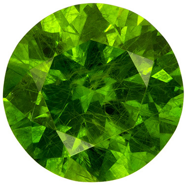 Lively Demantoid Russian Garnet Loose Round Gem, Intense Vivid Green, 5.2 mm, 0.65 carats - SOLD