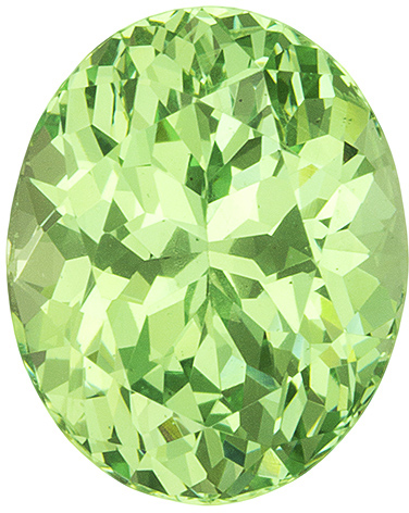 Lively Green Garnet Stone in Oval Cut, Vivid Mint Green, 9.1 x 7.3 mm, 3.08 carats