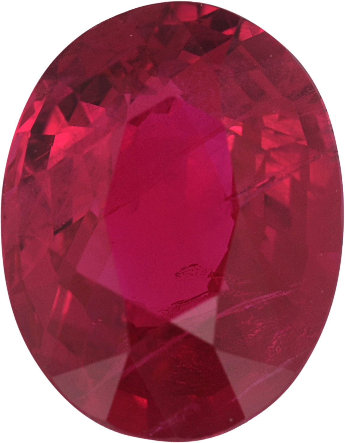 Lively Oval Cut Loose Ruby Gem,  Red Color, 7.68 x 5.95 mm, 1.48 carats