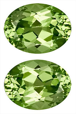 Lively Pair of Fantastic Mint Green Grossular Garnet Gems, Classic Color! Oval Cut, 8 x 6 mm, 3.12 carats