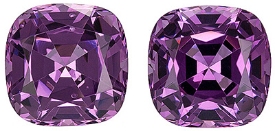 Lively, Well Cut Rich Purple Spinel Gemstones from Tanzania, Cushion Cut, 2.83 carats
