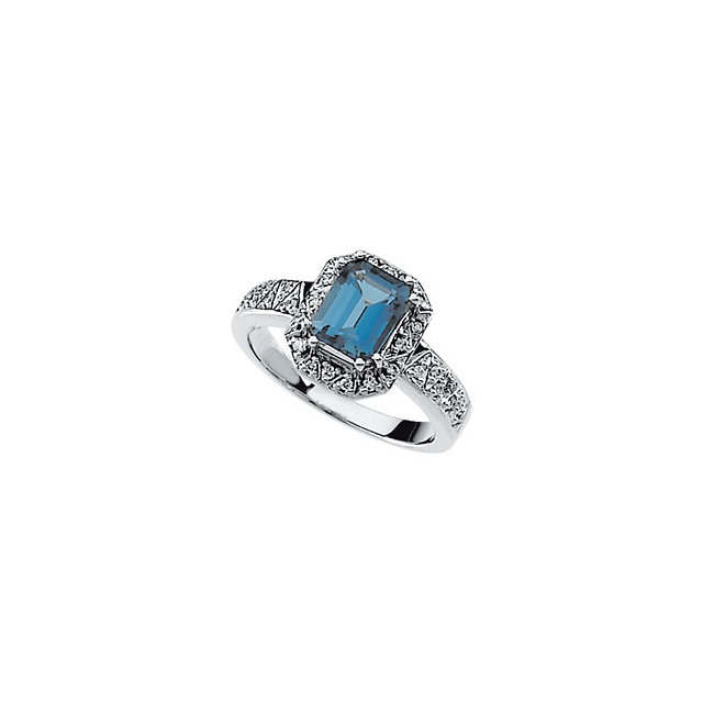 Surprise Her with  London Blue Topaz & Diamond Ring