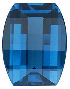 London Blue Topaz in Barrel Cut in Grade AAA