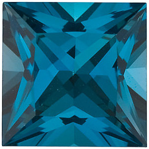 London Blue Topaz Princess Cut in Grade AAA