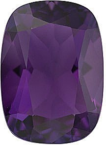 Loose Amethyst Standard Size Gemstone in Antique Cushion Shape Grade AA 10.00 x 8.00 mm in Size 2.6 carats