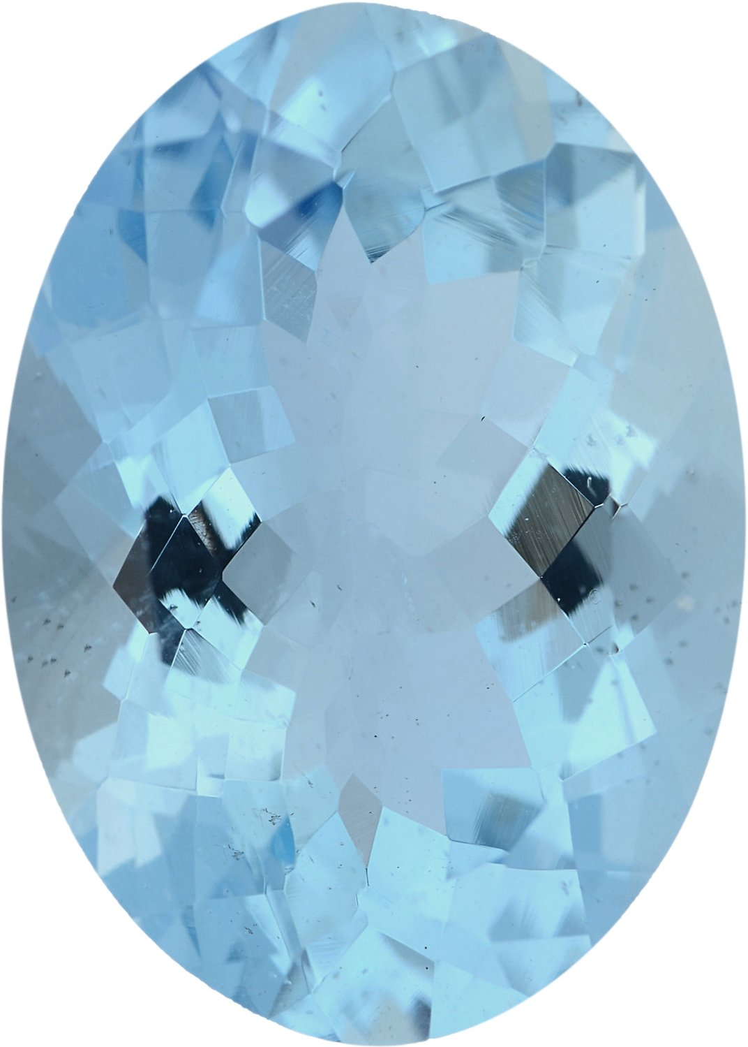 Loose Aqua Loose Gem in Oval Cut, Light Green Blue, 13.99 x 10.04 mm, 4.55 Carats