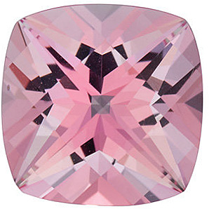 Loose Baby Pink Passion Topaz Gemstone, Antique Square Shape, Grade AAA, 5.00 mm in Size