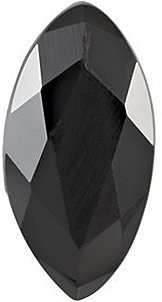 Loose Black Onyx Gemstone, Marquise Shape Faceted, Grade AA, 11.00 x 5.50 mm in Size