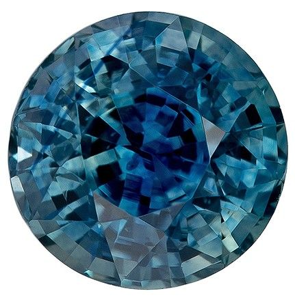 Loose Blue Green Sapphire Round Shaped Gemstone, 1.15 carats, 5.7mm - A Beauty of A Gem