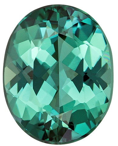 Loose Blue Green Tourmaline Gemstone, Oval Cut, 1.92 carats, 9 x 7.2 mm , AfricaGems Certified - A Deal
