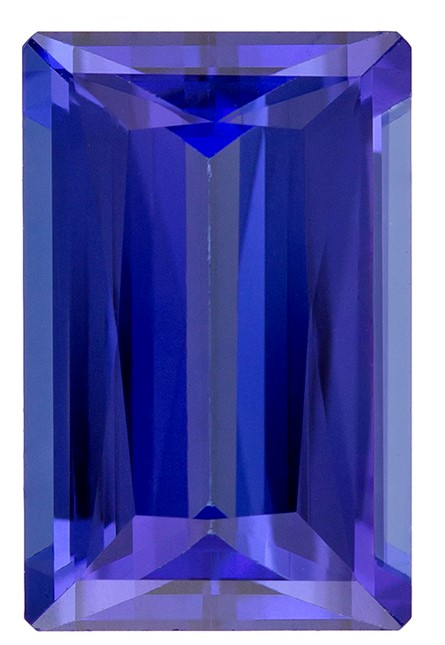 Loose Vivid Tanzanite Gemstone, Emerald Cut, 4.95 carats, 12.5 x 8.1 mm , AfricaGems Certified - A Fine Gem