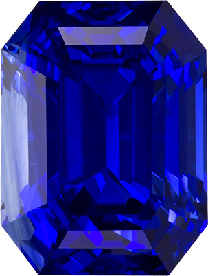Loose Blue Shire Gem Rich Color In Emerald Cut 9 1 X 6 8 Mm