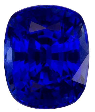 Loose Blue Sapphire Gemstone, Cushion Cut, 3.21 carats, 8.91 x 7.32 x 5.75 mm , GIA Certified - A Low Price