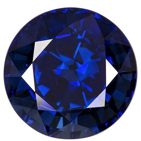 Loose Blue Sapphire Gemstone, Round Cut, 6.91 carats, 10.77 x 10.91 x 7.51 mm , GIA Certified - A Hard to Find Gem