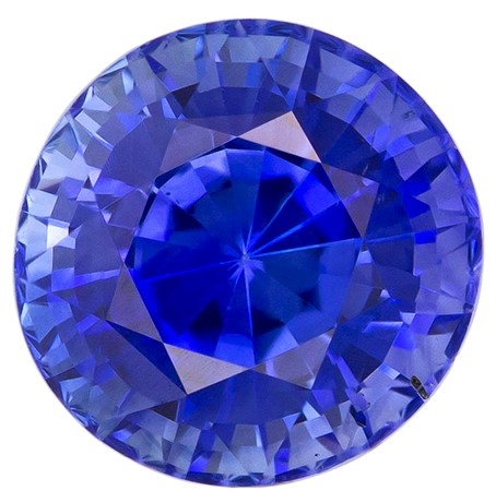 Loose Blue Sapphire Gemstone, Round Cut, 1.28 carats, 6.0 mm , AfricaGems Certified - A Unique Beauty