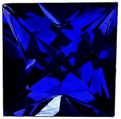 Loose Blue Sapphire Stone, Princess Shape, Grade AA, 3.00 mm in Size, 0.2 Carats