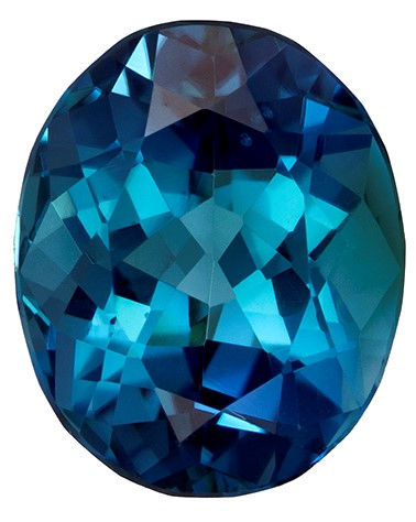 Loose Blue Tourmaline Gemstone, Oval Cut, 1.95 carats, 8.7 x 7.1 mm , AfricaGems Certified - A Beauty of A Gem