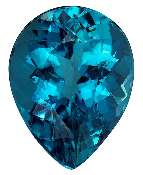 Loose Blue Tourmaline Gemstone, Pear Cut, 3.73 carats, 11.4 x 8.8 mm , AfricaGems Certified - A Great Buy