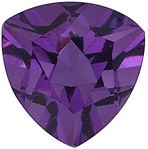 Loose Calibrated Natural Size Amethyst Gemstone in Trillion Shape, Grade AA, 10.00 mm in Size, 2.65 carats