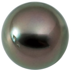 Loose Cultured Beautiful Natural Round Shape Undrilled Medium Tahitian Cultured Pearl Grade A, 13.5 carats, 12.00 mm in Size, 13.5 carats