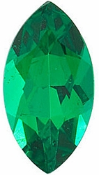 Loose Emerald Gemstone, Marquise Shape, Grade AAA, 8.00 x 4.00 mm in Size, 0.45 Carats
