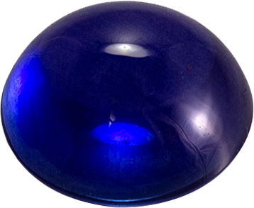 Loose Gemstone in Blue Sapphire Cabochon Cut, 1.16 carats, 6 mm