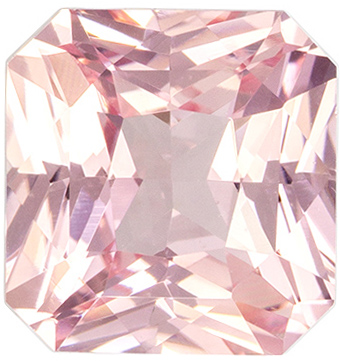 Loose Gemstone in Peach Sapphire Radiant GIA Certed No Heat, 1.73 carats, 6.7 x 6.41 x 4.15 mm