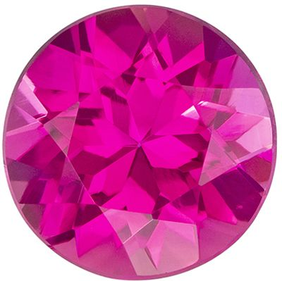 Loose Gemstone in Pink Tourmaline Round Cut, 1.61 carats, 7.9 mm