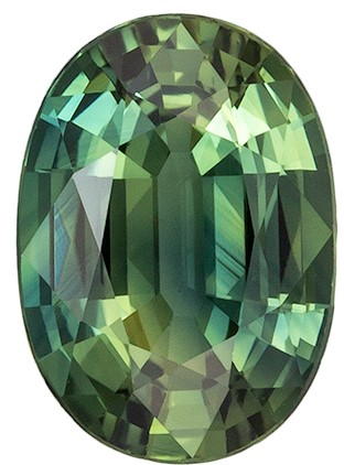 Loose Genuine Blue Green Sapphire Gemstone, 0.8 carats, Oval Shape, 6.6 x 4.8 mm, Great Buy on This Stone
