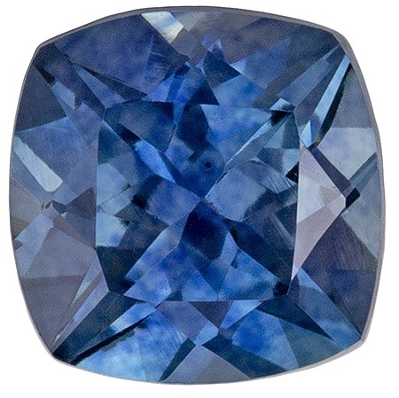 Loose Genuine Blue Green Sapphire Gemstone, 0.84 carats, Cushion Shape, 5.0 mm, Super Fine Gem, Great Deal