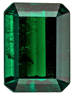 Loose Genuine Emerald Gemstone, 1.4 carats, Emerald Shape, 8.3 x 6.1 mm, A Natural Wonder