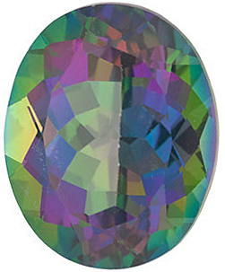 Loose Genuine Faceted Oval Shape Mystic Green Topaz Gemstone Grade AAA, 8.00 x 6.00 mm in Size, 1.65 Carats