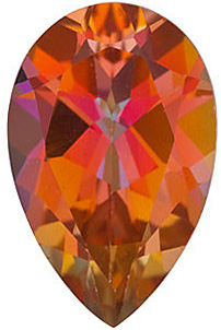 Loose Genuine Faceted Pear Shape Mystic Sunrise Topaz Gemstone Grade AAA, 14.00 x 9.00 mm in Size, 5.8 Carats