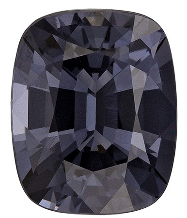Loose Genuine Gray Spinel Gemstone, 2.75 carats, Cushion Shape, 9.2 x 7.4 mm, Super Great Buy