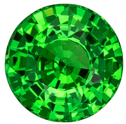 Loose Genuine Green Tsavorite Gemstone, 2.53 carats, Round Shape, 7.9 mm, A Wonderful Find